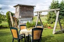 Garten mit Ausblick Erholung Landhaus Rügeband